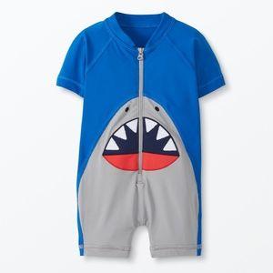 NWT Shark Zip Up Hanna Andersson Rash Guard 75 cm